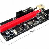 Райзер для видеокарты pci e 16x. Для майнинга. 6 pin PCI-E pcie Riser 009 Express 1X 4x 8x 16x расширитель PCI E USB Riser 009S двойная 6-контактная карта адаптера SATA 15pin для майнера BTC