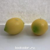 Свеча в форме лимона (2 штуки)