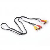 Высококачественный композитный аудио-видео и av-кабель, 3 RCA штекера на 3 RCA штекера