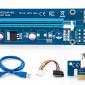 Райзер для видеокарты pci e 16x для майнинга 4 pin. USB 3,0 PCI-E pci e Riser Express 1X 4x 8x 16x удлинитель адаптер SATA 15pin. до 6pin. 2021 г.